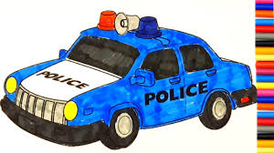 learning colors with police car coloring book coloring page diy