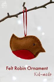 felt robin christmas ornament mum in the madhouse