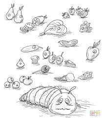 coloring pages hungry caterpillar coloring