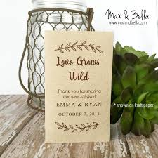 seed packets wedding favors diy custom seed packets custom kraft personalized envelopes