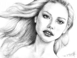 beautiful pencil sketches of faces beautiful female face pencil