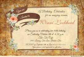 country chic woman birthday invitation vintage flower
