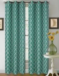 22 two tone geometric 1 panel teal white thermal foam lined
