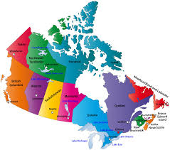 canadian map capitals a map of canada with provinces and capitals the map