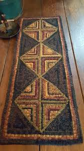 Corner Runner Rug Four Corners Log Cabin Runner Pattern Wool Pinterest Corner