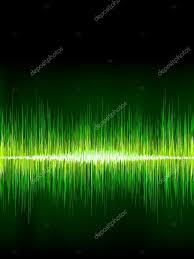 green sound wave on black background u2014 stock vector beholdereye