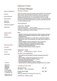 Telecom Project Manager Resume Sample by It Project Manager Cv Template Project Management Prince2 Cv