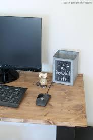Rustic Modern Desk by Rustic Modern Desk Katelyn Chantel Blog