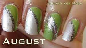 peridot nail design for august easy nail art birthstone series