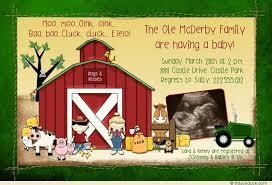 deere baby shower deere farm ultrasound invitation tractor barn baby shower