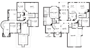 contemporary two story home floor plans