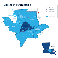Louisiana Parish Map With Cities by Workforce Ascension Economic Development Corporation
