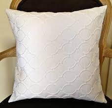 White Decorative Pillows for Living Room