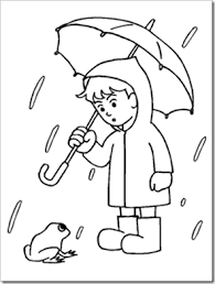 Preschool Alphabet Rainy Days Experiment Rainy Day Coloring Pages