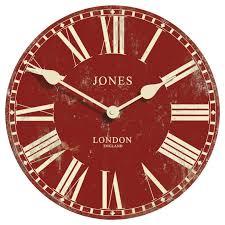 jones red alton wall clock clocks home accessories home