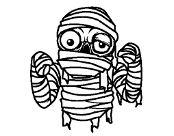 tutankhamun mummy coloring coloringcrew