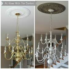 Spray Painting Brass Light Fixtures If You Need A New Light Fixture On A Budget Keep An Eye Out For