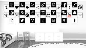 angle brackets social media icon wall art home décor frames