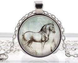horse necklace pendant images Wholesale silver jewelry leonardo da vinci horse necklace pendant jpg