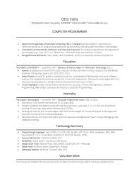 Programmer Resume Example by Computer Science Phd Resume