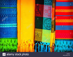 blanket traditional mexican handmade colorful cloth indian