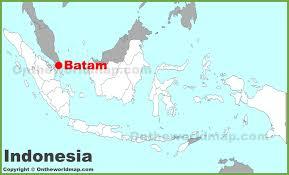 map batam batam location on the indonesia map