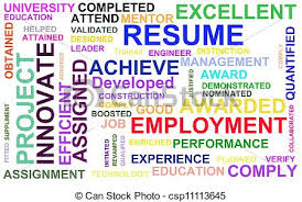 Powerful Words For Resume Stock Photo Of Resume Powerful Words Illustration High Resolution