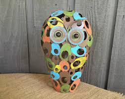Owls Home Decor Modern Owl Etsy