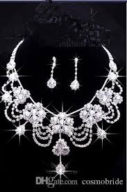 wedding necklace earrings images 2016 luxury wedding jewellery sets beaded bridal accessories jpg