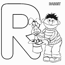 sesame street ernie rabbit coloring pages free coloring pages