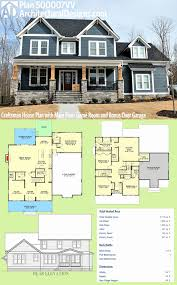 craftsman house plans with porch unique one story house plans with porch and bonus room house plan