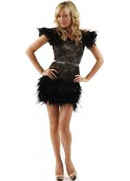 mcberry lace u0026 feather party dress mcberry feather dresses