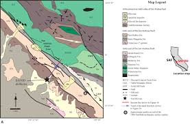 San Andreas Fault Line Map Mineralogic And Textural Analyses Of Drill Cuttings From The San