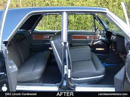1964 Lincoln Continental Interior Lincoln Continental Restoration Reupholster Lincoln Continental