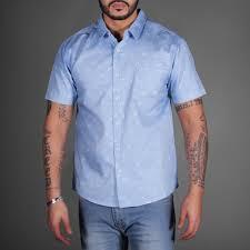 sky blue pattern heaven sleeve shirt wehustle menswear