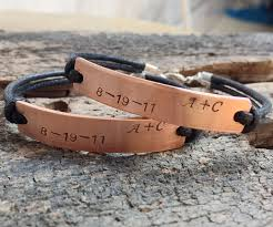 his and hers engraved bracelets couples bracelets personalized couples bracelet customized
