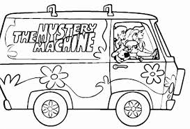 Scooby Doo And The Mystery Machine Coloring Pages Allmadecine Mystery Coloring Pages