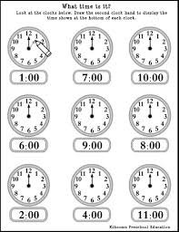 bunch ideas of learning to tell time worksheets free about