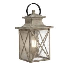 kichler outdoor lighting lowes shop kichler haven 15 98 in h distressed antique white and rust