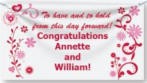 Congratulations Wedding Banner Wedding And Anniversary Banners Paperdirect Blog