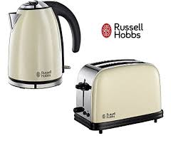 Brushed Stainless Steel Kettle And Toaster Set Russell Hobbs Colours Twin Pack Of Kettle U0026 2 Slice Toaster Cream