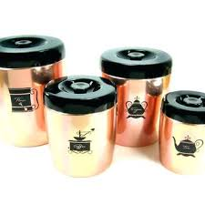 copper kitchen canister sets flour and sugar containers details about hammered coffee copper