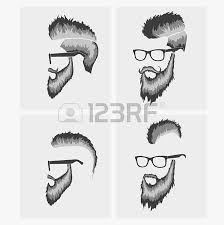 hairstyles with a beard in the face full face royalty free