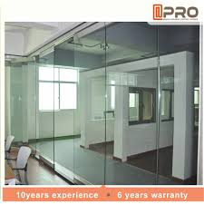 clear living room glass partition design price of aluminum office