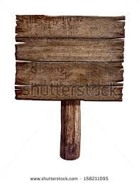 wooden sign board post panel stock illustration 158211095