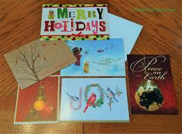 recycling christmas cards christmas lights decoration