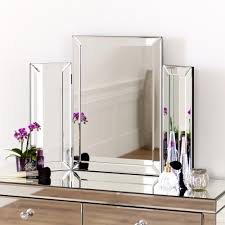Glass Vanity Table With Mirror Bedroom Furniture Sets White Wooden Dressing Table Makeup Table