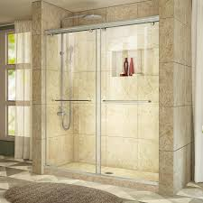 shop dreamline charisma 56 in to 60 in w frameless brushed nickel