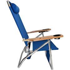 High Beach Chairs Titan Big Fish Hi Seat Aluminum Folding Beach Chair Blue High