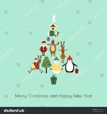 cute cartoon christmas card cute christmas stock vector 322734071
